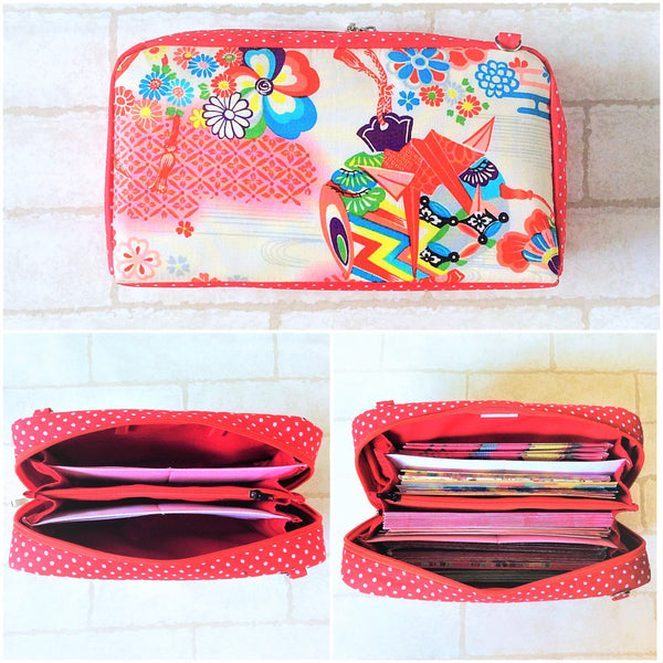 SPACIOUS Hong Bao Organizer | Ang Pao Wallet | Spacious Organizer 100 Red Packets | Spacious Jap Floral Design 20B16
