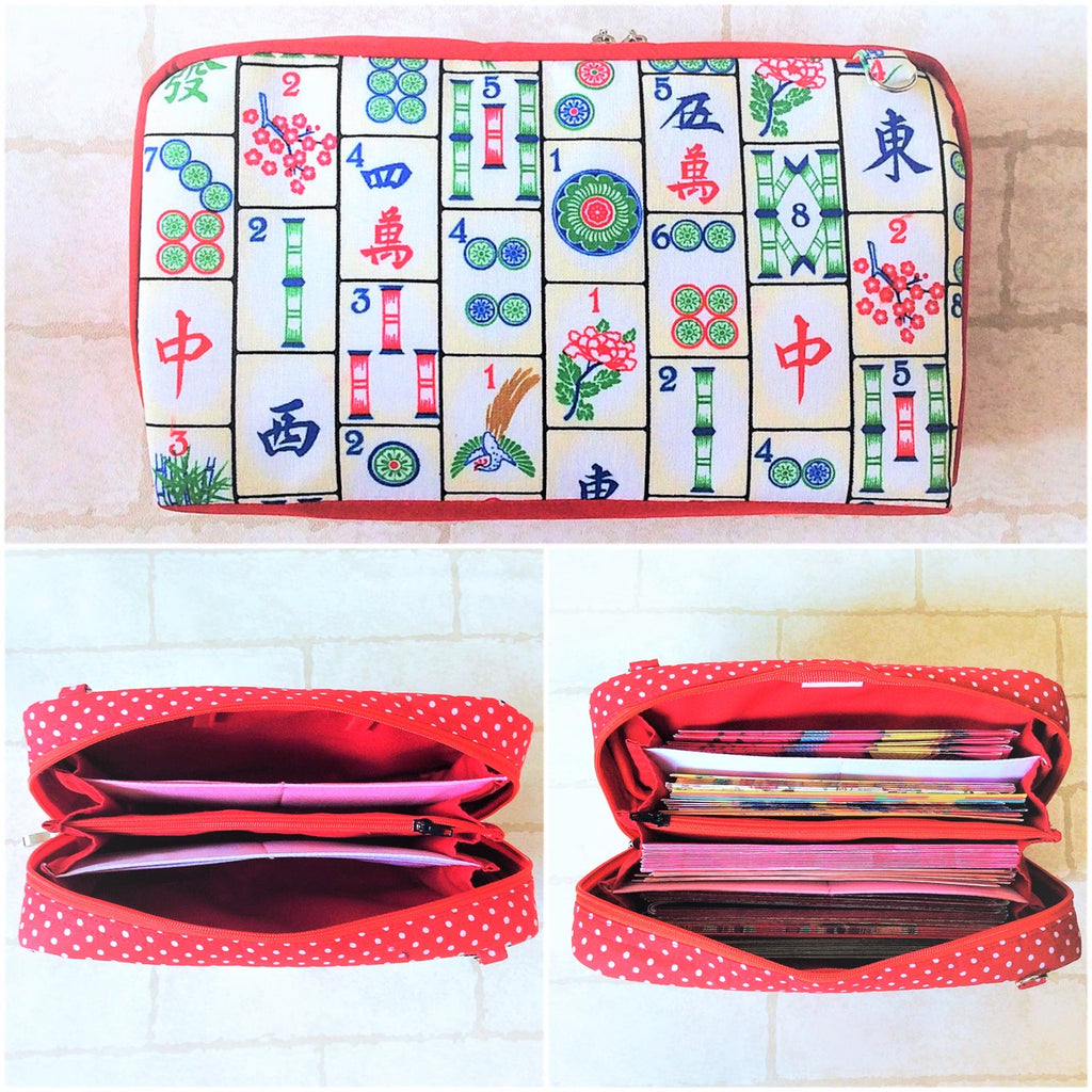 SPACIOUS Hong Bao Organizer | Ang Pao Wallet | Spacious Organizer 100 Red Packets | Spacious Mahjong Design 20B22