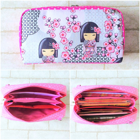 SPACIOUS Hong Bao Organizer | Ang Pao Wallet | Spacious Organizer 100 Red Packets | Spacious Kimmidoll Design 20B23