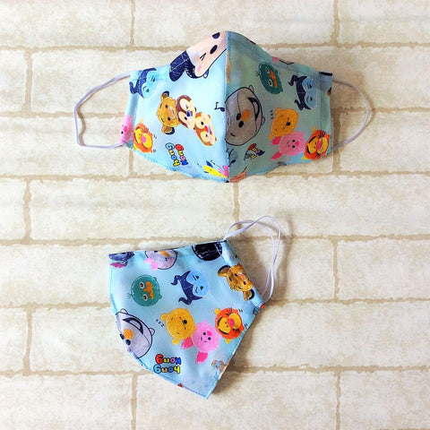 ADULT AND KIDS SIZE : WATERPROOF HANDMADE MASK READY STOCK | Design 2B62