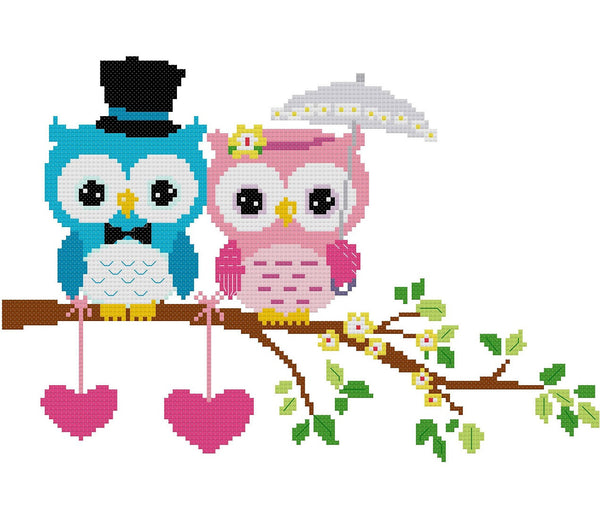 Wedding Owl Cross Stitch Pattern 03 - MomLuvDIY.SG - 2