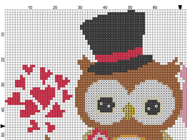 Wedding Owl Cross Stitch Pattern 04 - MomLuvDIY.SG - 3