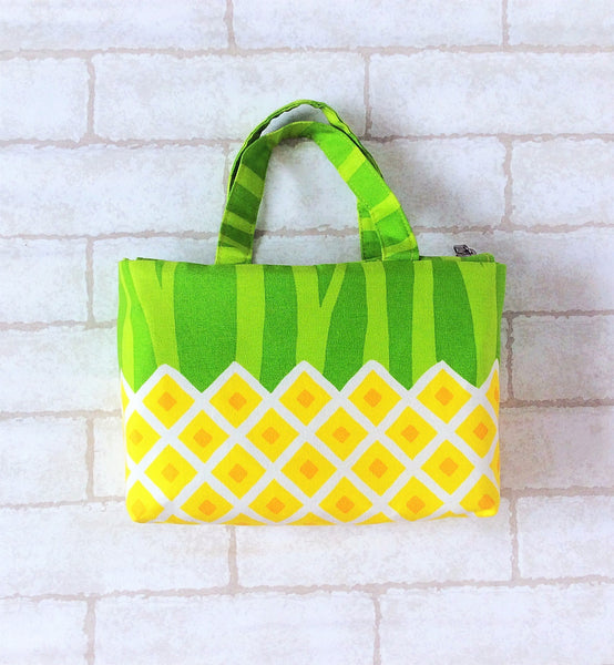 CNY Bag for House Visits | CNY Bag to put Red Packets | Handcarry Bag | Girl's Bag | CNY Bag Light Yellow Pineapple Design 20B29