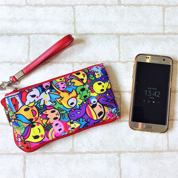 Smartphone Multi-Pocket Pouch | Waterproof Smartphone Tokidoki Design 1B04