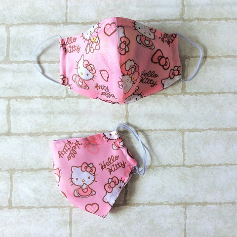ADULT AND KIDS SIZE : WATERPROOF HANDMADE MASK READY STOCK | Design 2B57