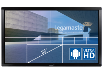 The E-Screen ETX-8600UHD black interactive touch monitor put you in complete control of your presentation.That's because our e-Screens are equipped with highly accurate, multi-touch sensor technology that allows multiple users to use the screens simultaneously. This Legamaster e-Screen can be operated using your finger or a stylus.