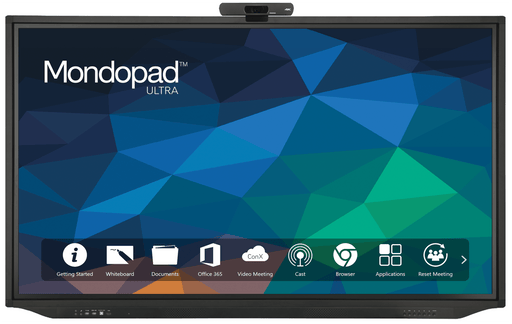 Instantly bring people together from anywhere in the world using InFocus newest Interactive Display, The Mondopad Ultra.This is an elegant all-in-one touchscreen system for efficient multilocational collaboration.