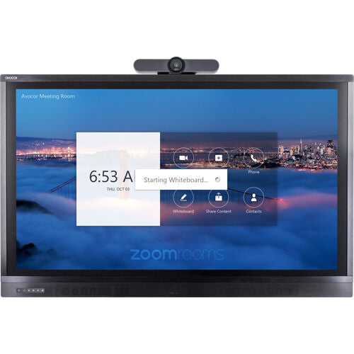 "Avocor 75"" Premium Display for Zoom Room Touch with MeetUp"