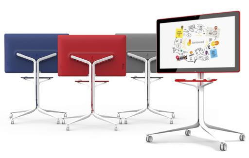The Google Jamboard with jamboard rolling stand