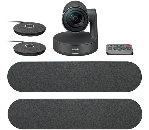 Logitech Rally 960-001225 Conference Camera, two Speakers and two Mic