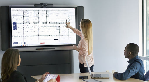 The SMART Board 8055i interactive flat panel