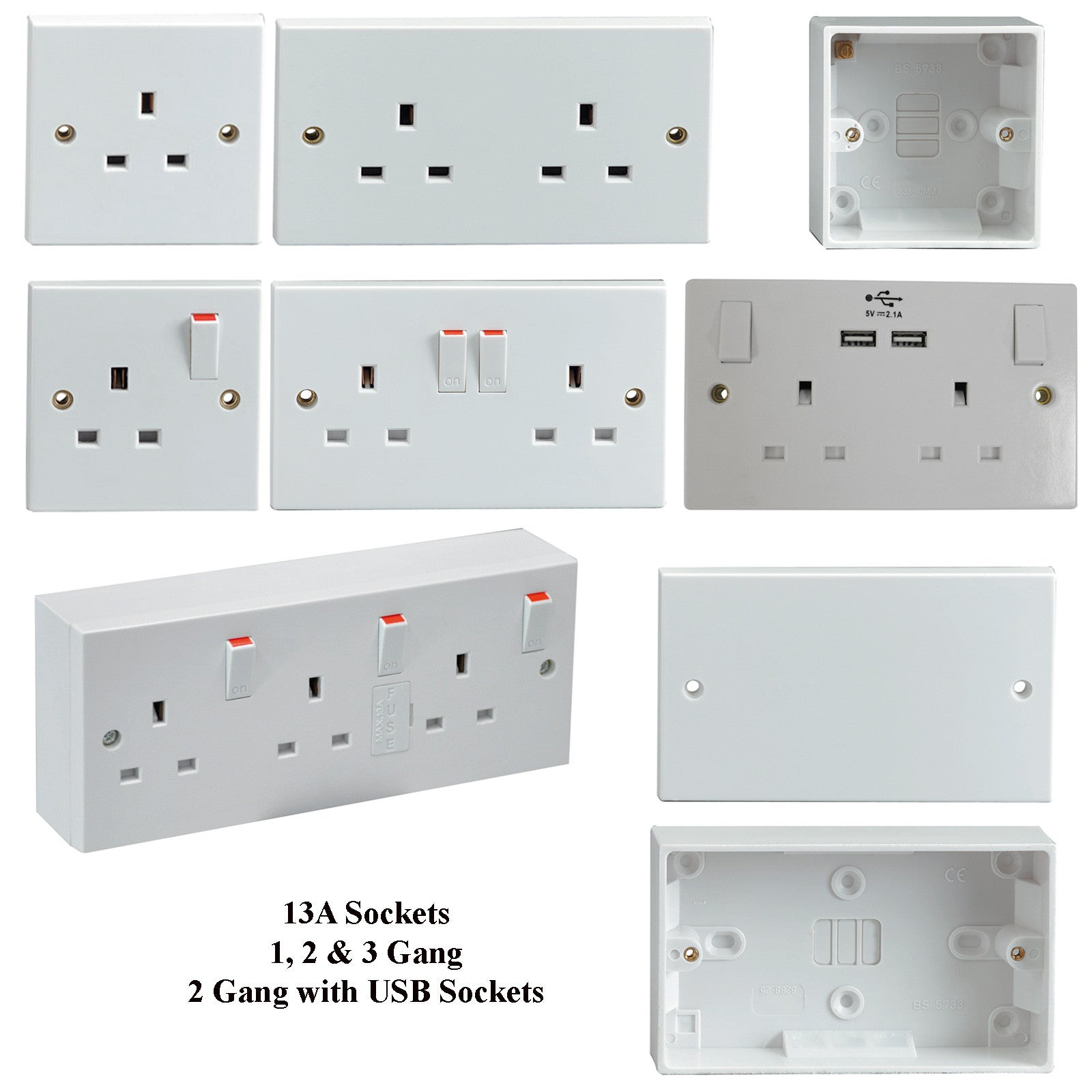 Range of Sockets & Switches for your home or business