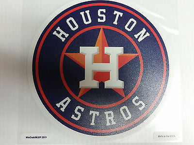 Houston Astros Colored Window Die Cut Decal Wincraft Sticker 8x8 MLB