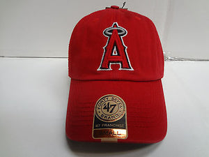 Los Angeles Angels Franchise '47 Brand Fitted Cap Red Unstructured Hat