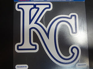 Kansas City Royals Colored Window Die Cut Decal Wincraft Sticker 8x8 MLB