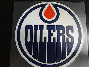 Edmonton Oilers Colored Window Die Cut Decal Wincraft Sticker 8x8 NHL