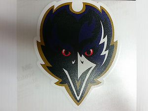 Baltimore Ravens Colored Window Die Cut Decal Wincraft Sticker 8x8 NFL