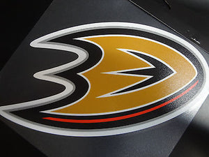 Anaheim Ducks Colored Window Die Cut Decal Wincraft Sticker 8x8 NHL