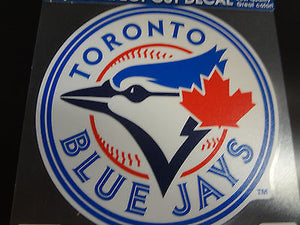 Toronto Blue Jays Colored Window Die Cut Decal Wincraft Sticker 8x8 MLB