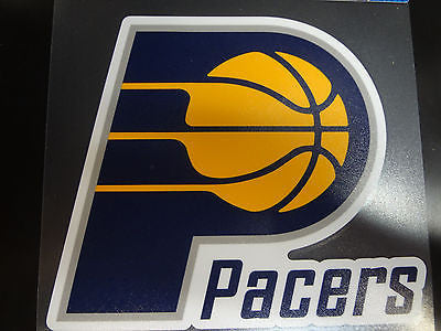 Indiana Pacers Colored Window Die Cut Decal Wincraft Sticker 8x8 NBA