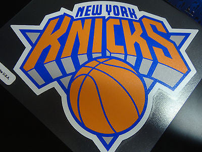 New York Knicks Colored Window Die Cut Decal Wincraft Sticker 8x8 NBA
