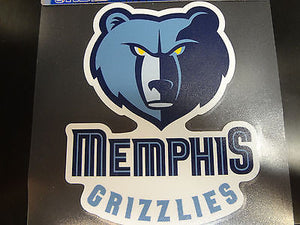 Memphis Grizzlies Colored Window Die Cut Decal Wincraft Sticker 8x8 NBA