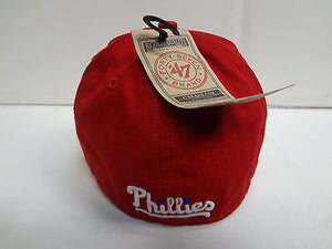 Philadelphia Phillies Franchise '47 Brand Fitted Cap Red Unstructured Hat