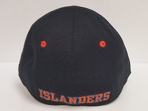 New York Islanders Reebok Black Cap Stretch Fit Fitted Hat