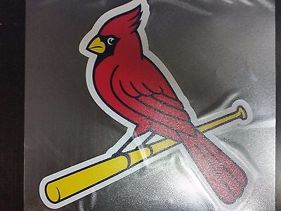 St. Louis Cardinals Colored Window Die Cut Decal Wincraft Sticker Cling 8x8 MLB