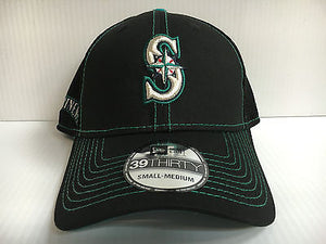 Seattle Mariners Cap New Era 39Thirty Stretch Fit Crux Line Neo Mesh Hat
