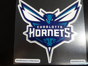 Charlotte Hornets Colored Window Die Cut Decal Wincraft Sticker 8x8 NBA