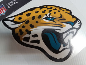 Jacksonville Jaguars Colored Window Die Cut Decal Wincraft Sticker 8x8 NFL