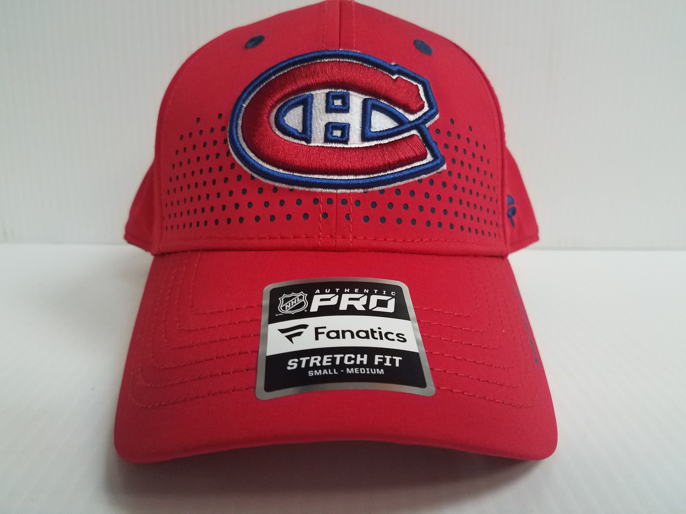 fcb57a304fe Montreal Canadiens Cap 2018 Official NHL Draft Stretch Fit Fitted Hat –  Sports City Hats