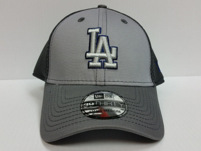 Los Angeles Dodgers Cap New Era 39Thirty Stretch Fit Fitted Hat Grayed Out Neo