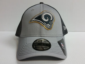 Los Angeles Rams New Era 39Thirty Stretch Fit Fitted Hat Mesh Grayed Out Neo 2