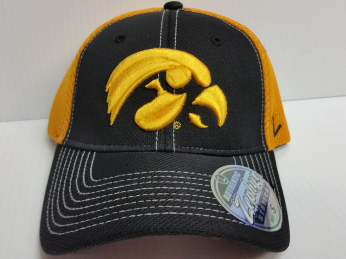 Iowa Hawkseyes Cap Zephyr Stretch Fit Fitted Rally 2 Mesh Hat NCAA