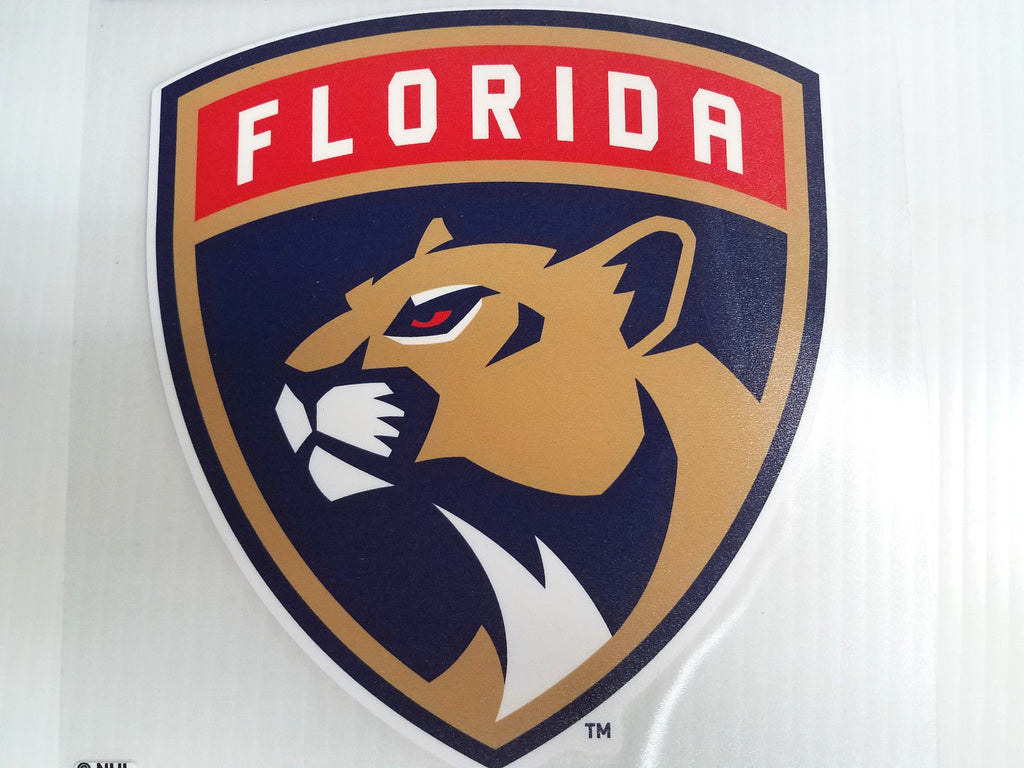 Florida Panthers Colored Window Die Cut Decal Wincraft Sticker 8x8 Cling NHL