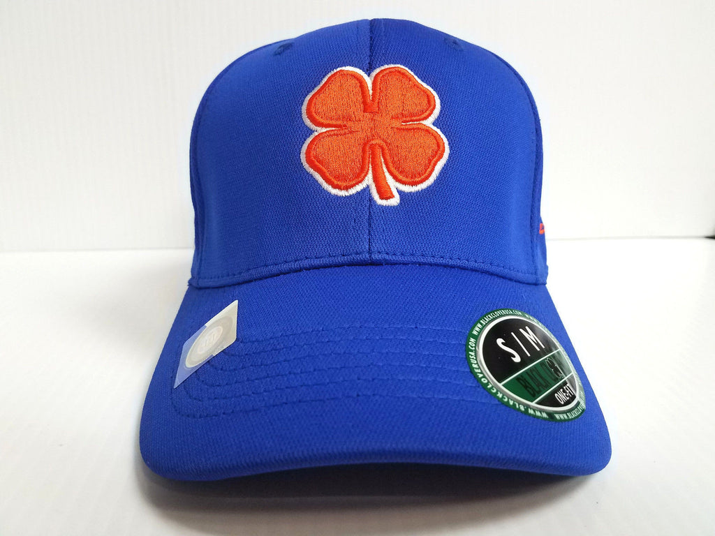 Boise State Broncos Black Clover Cap Lucky Premium Stretch Golf Hat NCAA