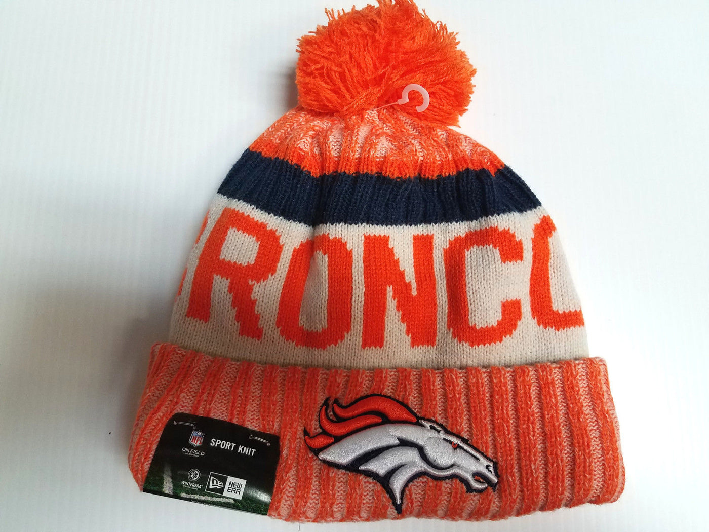 first rate 063e6 5401e ... 50% off denver broncos new era knit hat on field 2017 sideline beanie  stocking cap ...