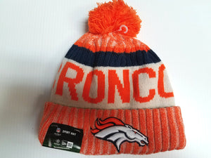 Denver Broncos New Era Knit Hat On Field 2017 Sideline Beanie Stocking Cap