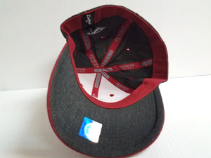 Stanford Cardinal Cap Zephyr Stretch Fit Fitted Heathered Dusk Hat NCAA