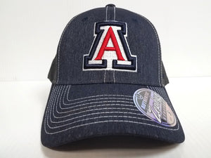 Arizona Wildcats Cap Zephyr Stretch Fit Fitted Heathered Dusk Hat NCAA