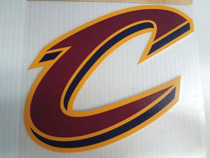 Cleveland Cavaliers Colored C Window Die Cut Decal Wincraft Sticker 8x8 NBA