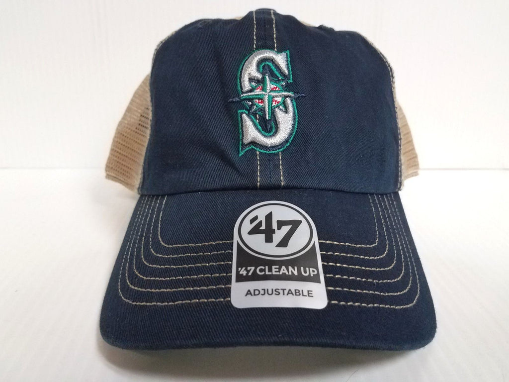 Seattle Seahawks  47 Brand Cap Adjustable Trawler Clean up Mesh Hat NFL