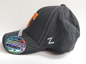 Tennesse Volunteers Vols Cap Zephyr Stretch Fitted Center Court Heathered Hat