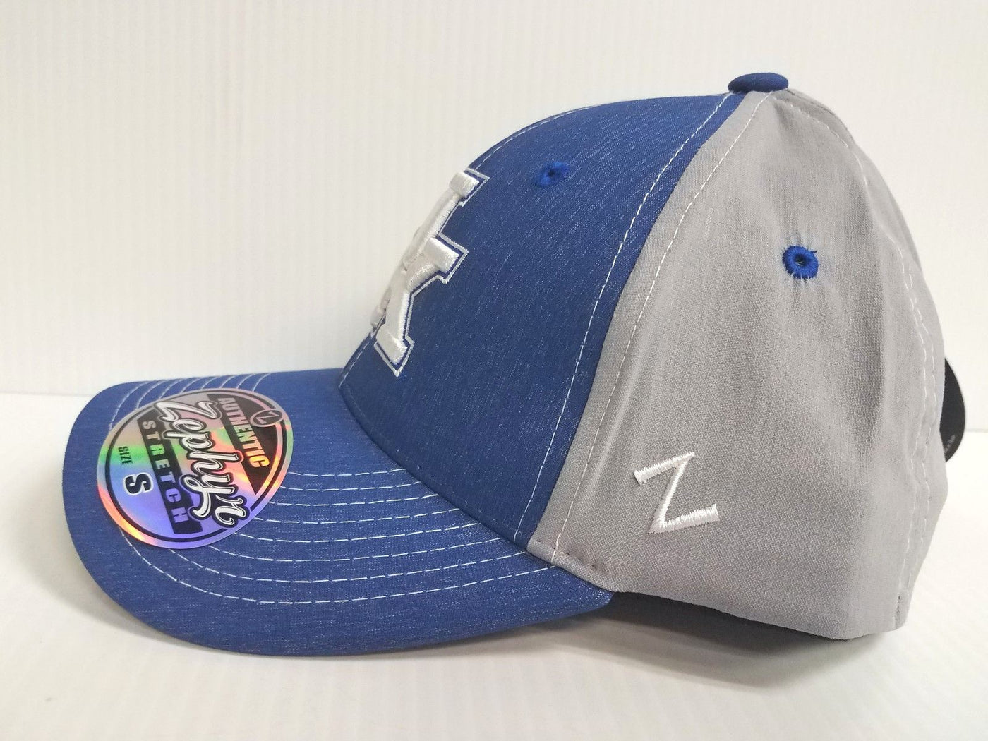 outlet store 76093 1b475 Kentucky Wildcats Cap Zephyr Stretch Fit Fitted Heathered Clash Hat NCAA