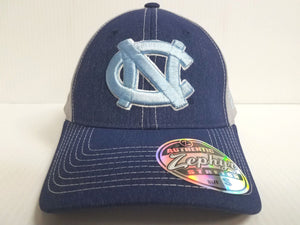 North Carolina Tar Heels Cap Zephyr Stretch Fit Fitted Heathered Clash Hat NCAA