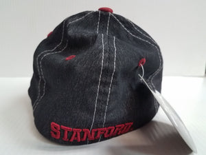 Stanford Cardinal Cap Zephyr Stretch Fit Fitted Heathered Clash Hat NCAA