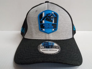 Carolina Panthers Cap New Era 39Thirty Stretch On Field 2018 Road Sideline Hat