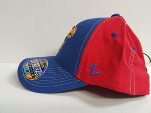 Kansas Jayhawks Cap Zephyr Stretch Fit Fitted Heathered Clash Hat NCAA